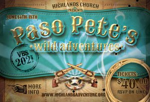 vacation bible school for elementary children at Highlands Church